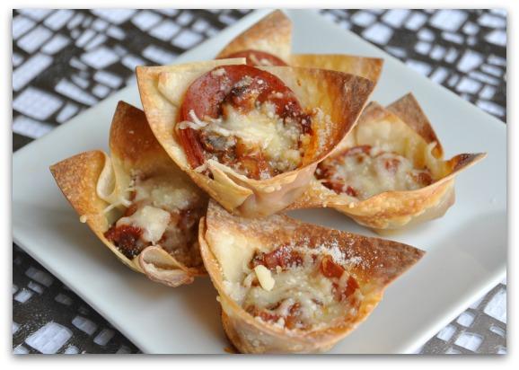 Homemade Pizza Rolls Deep Dish Won Ton Pizza Cups