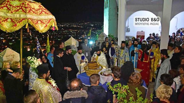 Περιφορά της θαυματουργής εικόνας στην Ι.Μ. Παναγίας Πορτοκαλούσας στο Άργος (βίντεο)