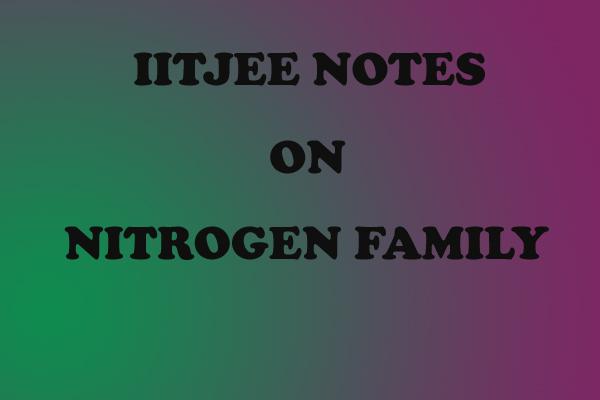 Nitrogen Family