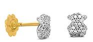 pendientes tous oro y diamantes