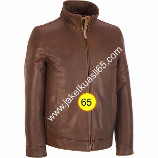 jaket kulit pria warna cokelat