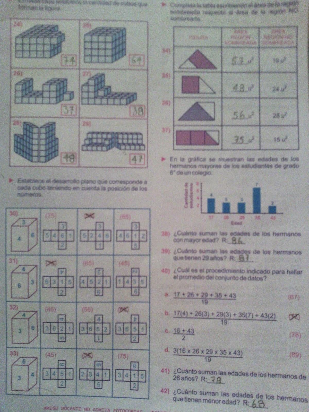 Moderno Hojas De Trabajo De Matemáticas De Grado 8 Con Respuestas ...