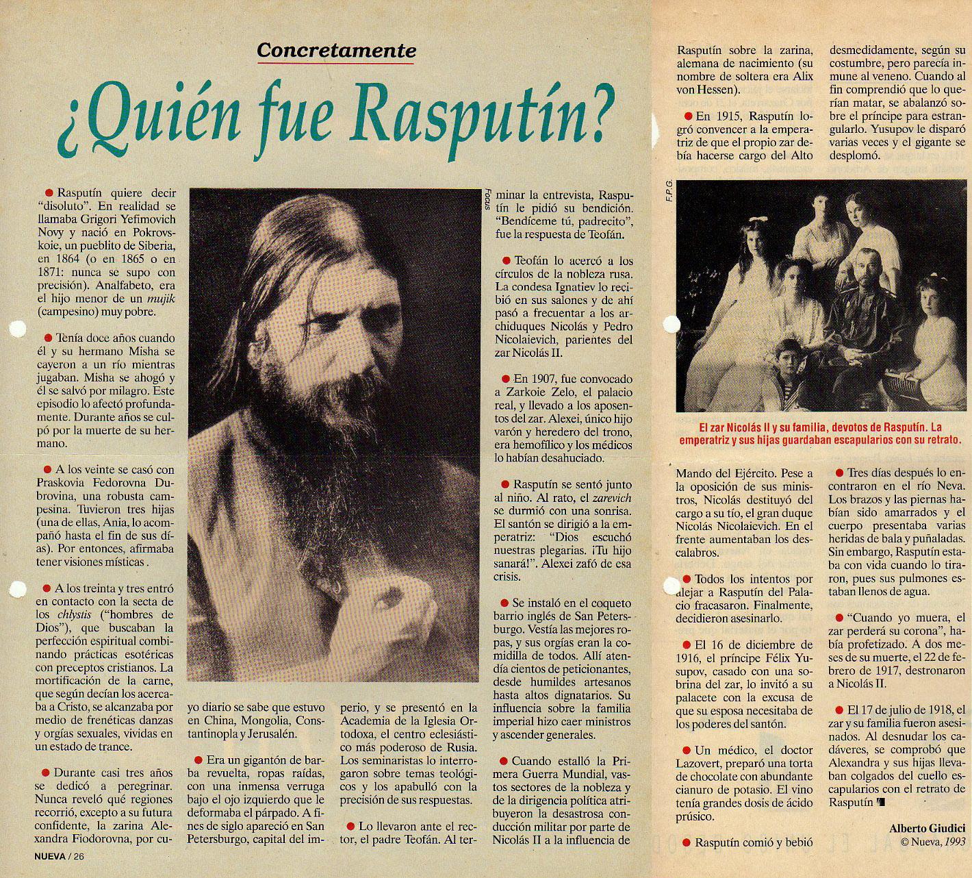 Pelicula Porno Rasputin concretamente: quien fue rasputin? ~ limon