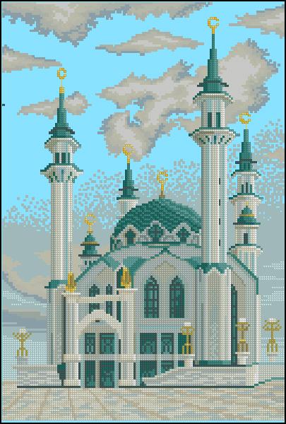 Схема вышивки мечеть кул шариф