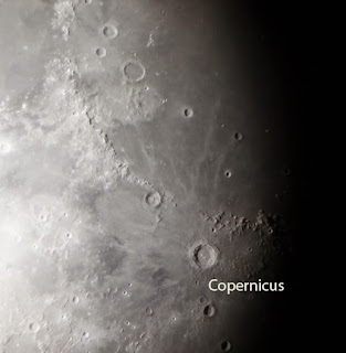 The Moon Featuring the Crater Copernicus Imaged by  Sacred Heart Student, Cam. K. w/ his DSLR Camera.