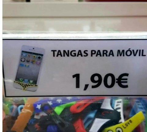 Tangas para móviles y tablets