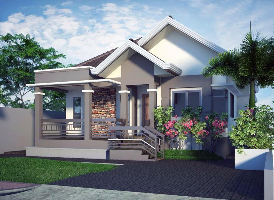 20 Photos of Small Beautiful and Cute Bungalow House Design Ideal - simple house designs