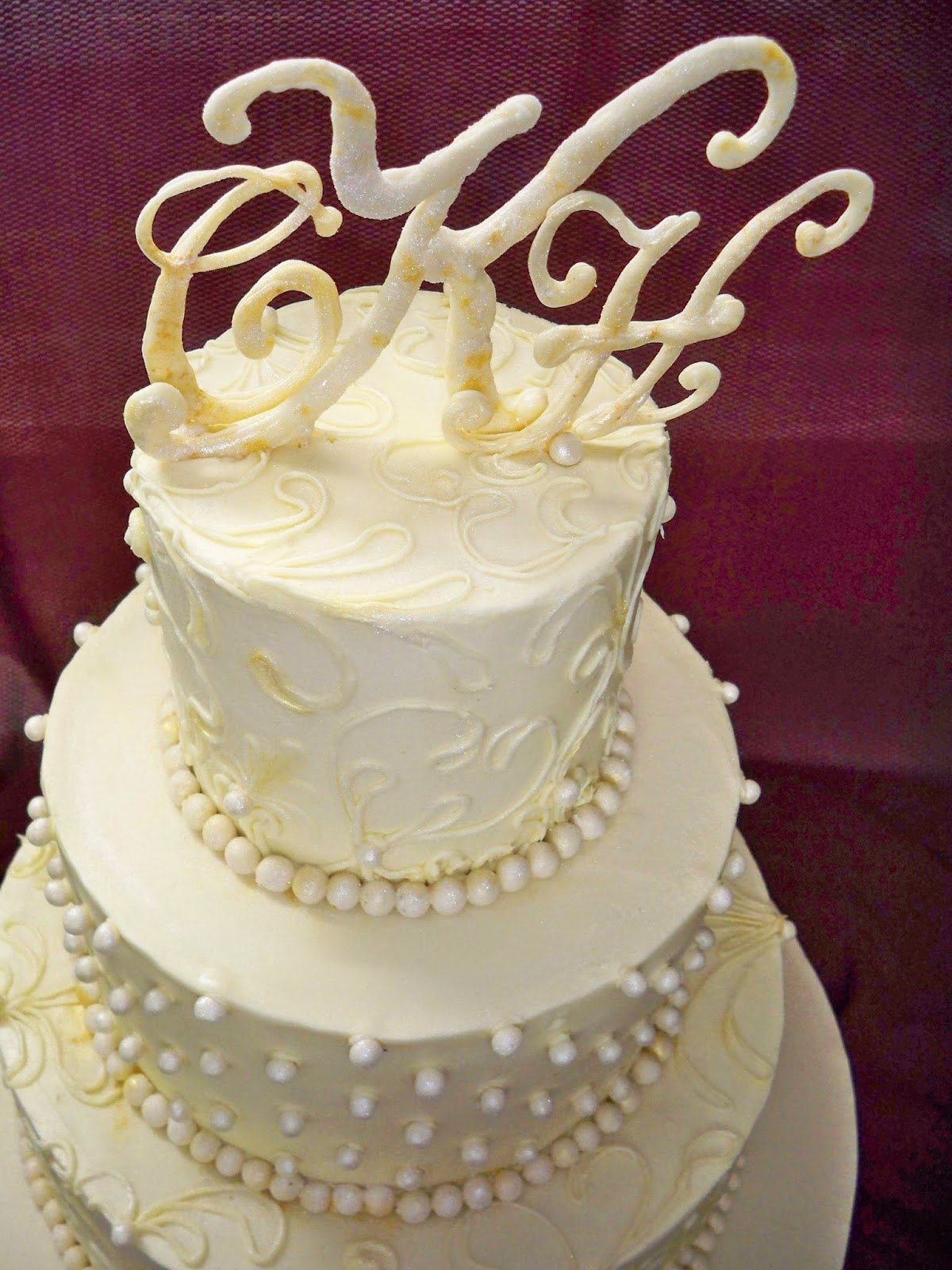 white chocolate ganache covered wedding cake white chocoalte ganache lace wedding cake elisabeth s 27250