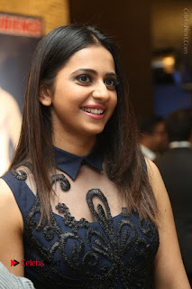 Actress Rakul Preet Singh Stills in Beautiful Blue Long Dress at Dhruva Salute to Audience Event  0015.JPG