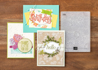 Stampin' Up! 3 Country Floral Embossing Folder Projects ~ 2019 Sale-a-Bration