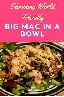 big mac in a bowl slimming world recipe