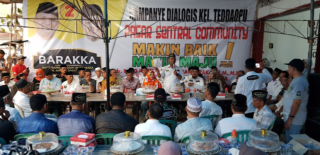 Komunitas Pasar Sentral Menyatu Dukung Barakka, Ini Buktinya