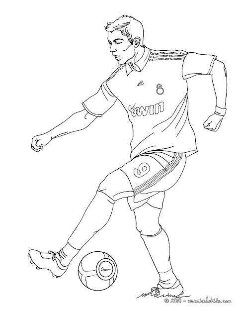 Christiano Ronaldo Playing Soccer Coloring Page Warm Up Your Imagination  And Color Nicely This Christiano Ronaldo Playing Soccer Coloring Page From