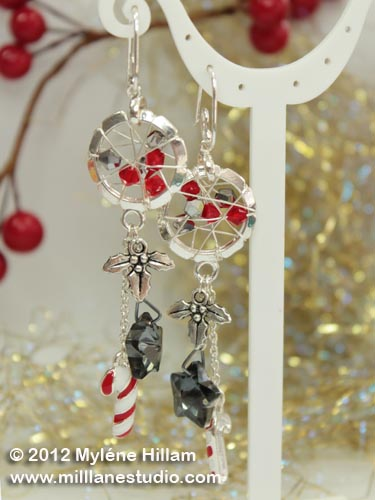 Wrapped and Bejewelled earrings.
