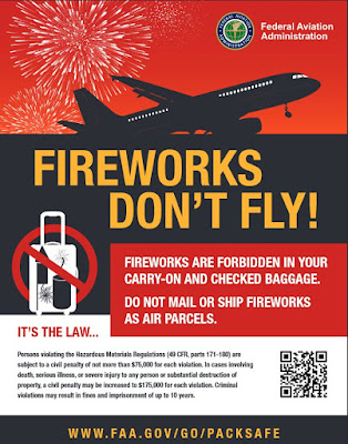 Fireworks don't fly poster