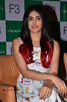 Bollywood Actress Adah Sharma Pos in White Printed Short Dress at OPPO F3 Plus Selfie Expert Mobile Launch .COM 0039.jpg