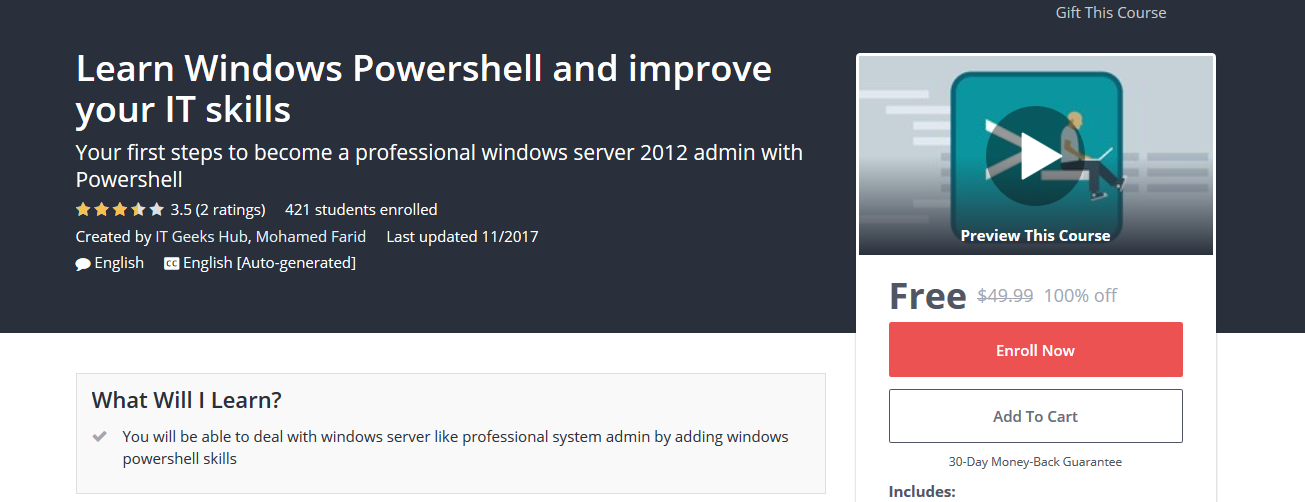 Learn windows powershell and improve your it skills couponis learn windows powershell and improve your it skills fandeluxe Gallery