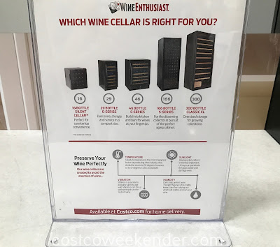 Available models of wine cellars from Wine Enthusiast