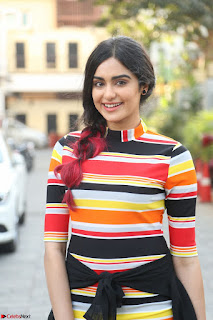 Adha Sharma in a Cute ed Short Tight Colorful Dress Spicy Pics Feb 2017 002.JPG