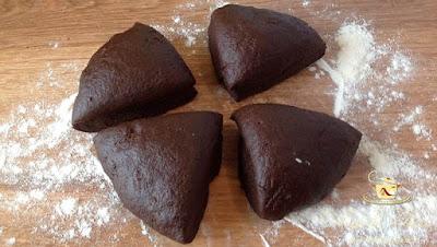 Foi fragede cu cacao - etapa 9