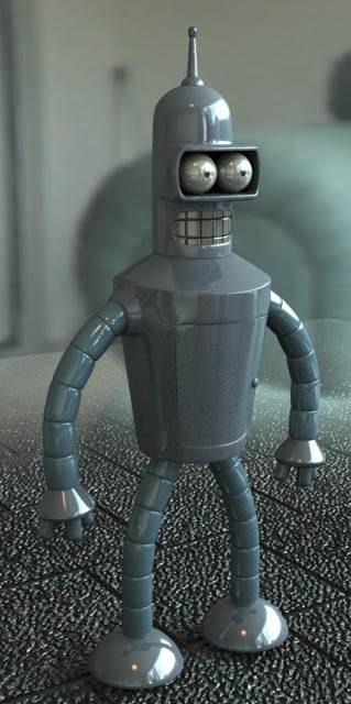 Bender de la serie Futurama