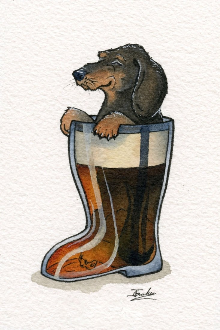 07-Dazed-Dachshund-Das-Boot-Jon-Guerdrum-Drawings-of-Surreal-Drinking-Visions-of-Animals-www-designstack-co