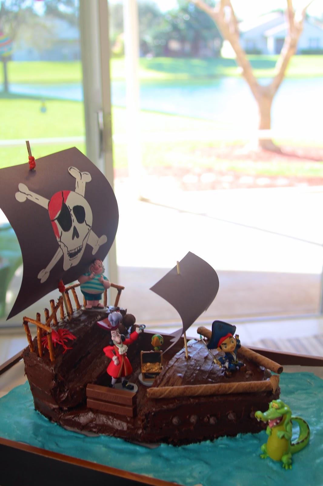 Pirate Ship Birthday Cake Tutorial The Lavender Apple