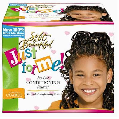 cheveux crépus - défrisant pour enfants