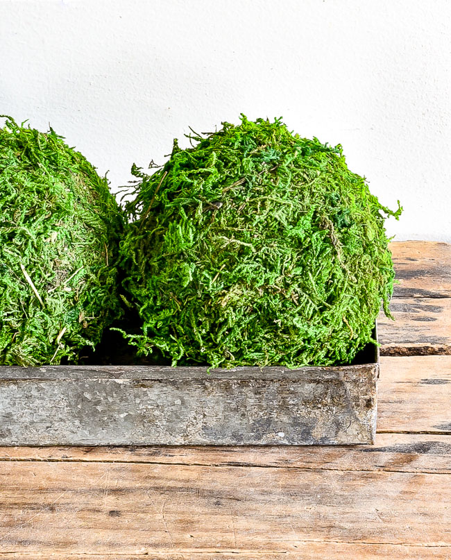 DIY Dollar Tree moss balls