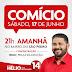 Comício de Hélio será nesta sábado (17), no bairro de São Pedro. Compartilhem...