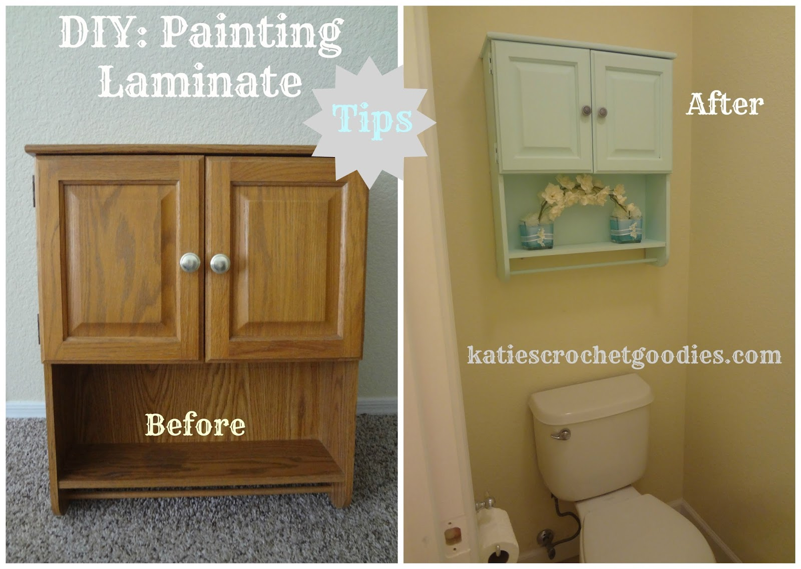 Painting Laminate Cabinet