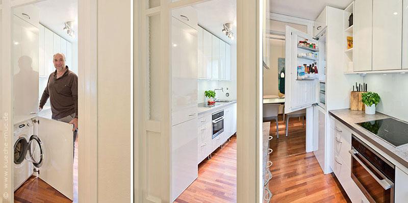 wir renovieren ihre k che kleine k che kreative ideen f r wenig platz. Black Bedroom Furniture Sets. Home Design Ideas