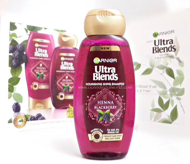 Garnier Ultra Blends Shampoos - Nourishing Shine With Henna and Blackberry