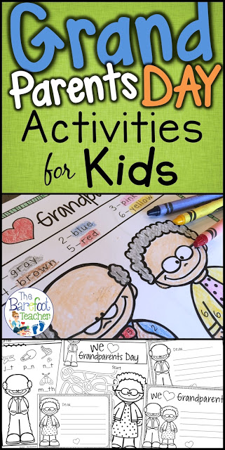 Grandparents Day activities for Kindergarten and First Grade