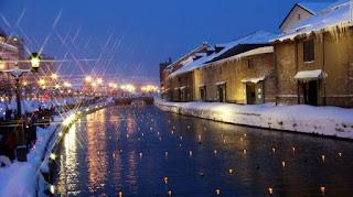 Menikmati Otaru Snow Light Path Di Jepang
