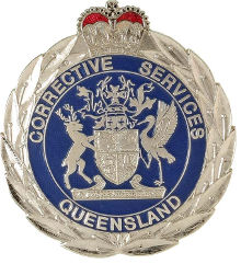 Queensland Corrective Services badge, 1990s.