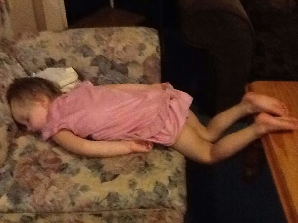 15+ Hilarious Pics That Prove Kids Can Sleep Anywhere - Being Adelaide Is Hard Work Sometimes