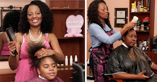 Vanessa Howard, founder of Giving Hands Hair Salon in Tampa, Florida