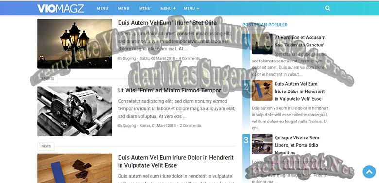 Template Viomagz Premium Versi 2.4 Free dari Mas Sugeng - BeHangat.Net