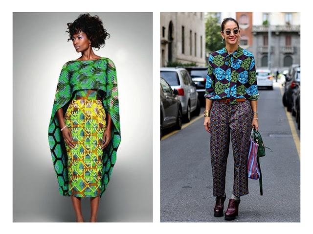 Сочетание юбки и топа и брюк и топа с абстрактными принтами