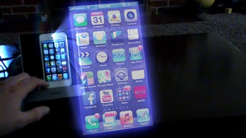 holographic smartphone concept