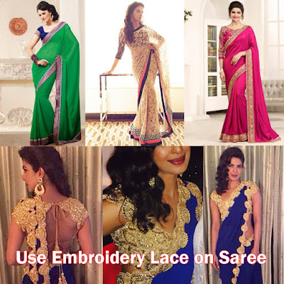 Use of Lace in Sarees