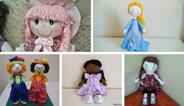 Bonecas de pano para brincar e decorar