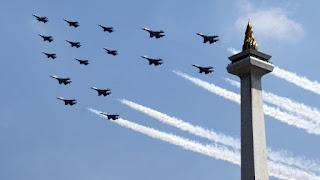 TNI AU Ajak Warga Lihat Demo Manuver Pesawat Tempur di Langit Jakarta !