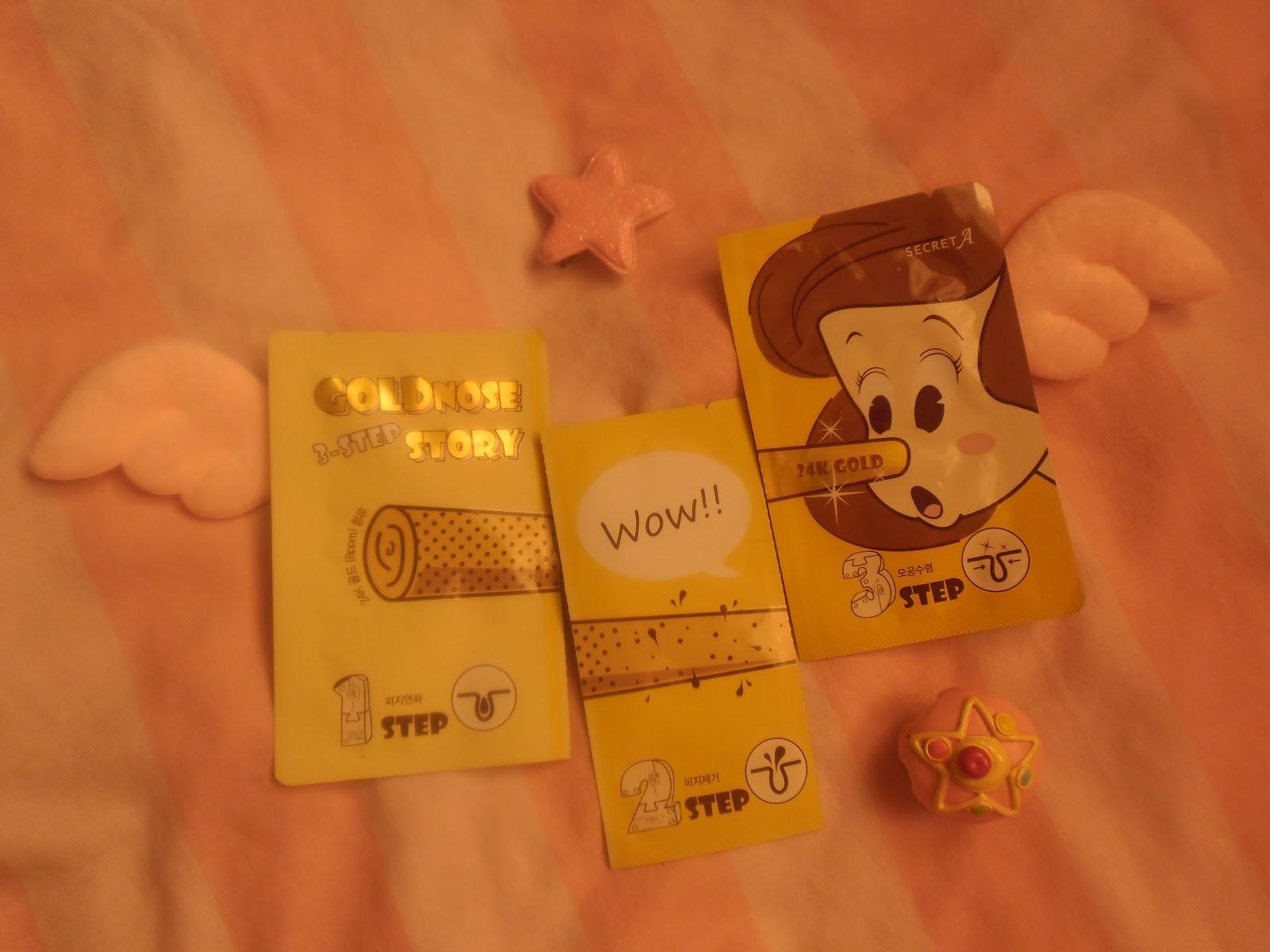 Unikitty Korean Beauty Secret A Goldnose 3 Step Story Key Nature Recipe Mask Pack Tea Tree 20g 3pcs Nose Strip