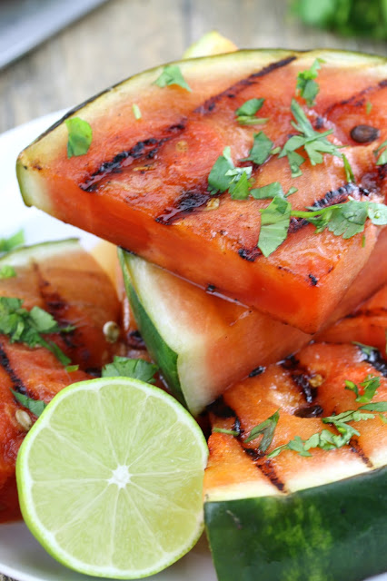 Turn your watermelon into something new and delicious with this recipe for Cilantro-Lime Grilled Watermelon. Take your summer grilling to a whole new level!