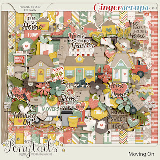 Creative Team, Annemarie, for GingerScraps -  Moving On - Digital Scrapbooking Kit by Ponytails Designs with Coordinating Freebie and A Little Bit Arty 12, Heartstrings Scrap Art