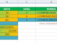 Cara Menggunakan Fungsi COUNT, COUNTA dan COUNTBLANK di Excel