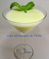 Sopa refrescante de melón