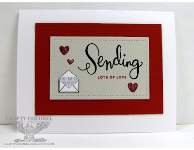 CraftyColonel Donna Nuce for Cards in Envy Love you so much challenge.  Simon Says Stamp Sending Happy Thoughts Stamps Set